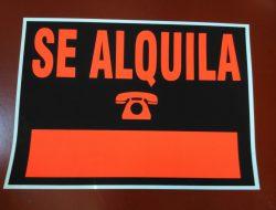 CARTELES GRANDES DE SE ALQUILA SE VENDE BARATOS ONLINE PRECIOS PARA ALQUILAR O VENDER PISOS LOCALES ECONOMICOS EN COLORES