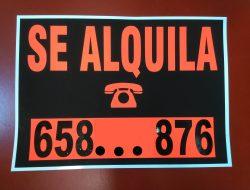 COMPRAR HACER CARTELES DE SE ALQUILA BARATOS ONLINE PRECIOS CON NUMERO DE TELEFONO PARA ALQUILAR
