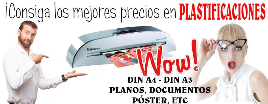 Plastificación de Documentos en Tamaño DIN A4, DIN A3, DIN A2 ó Superior