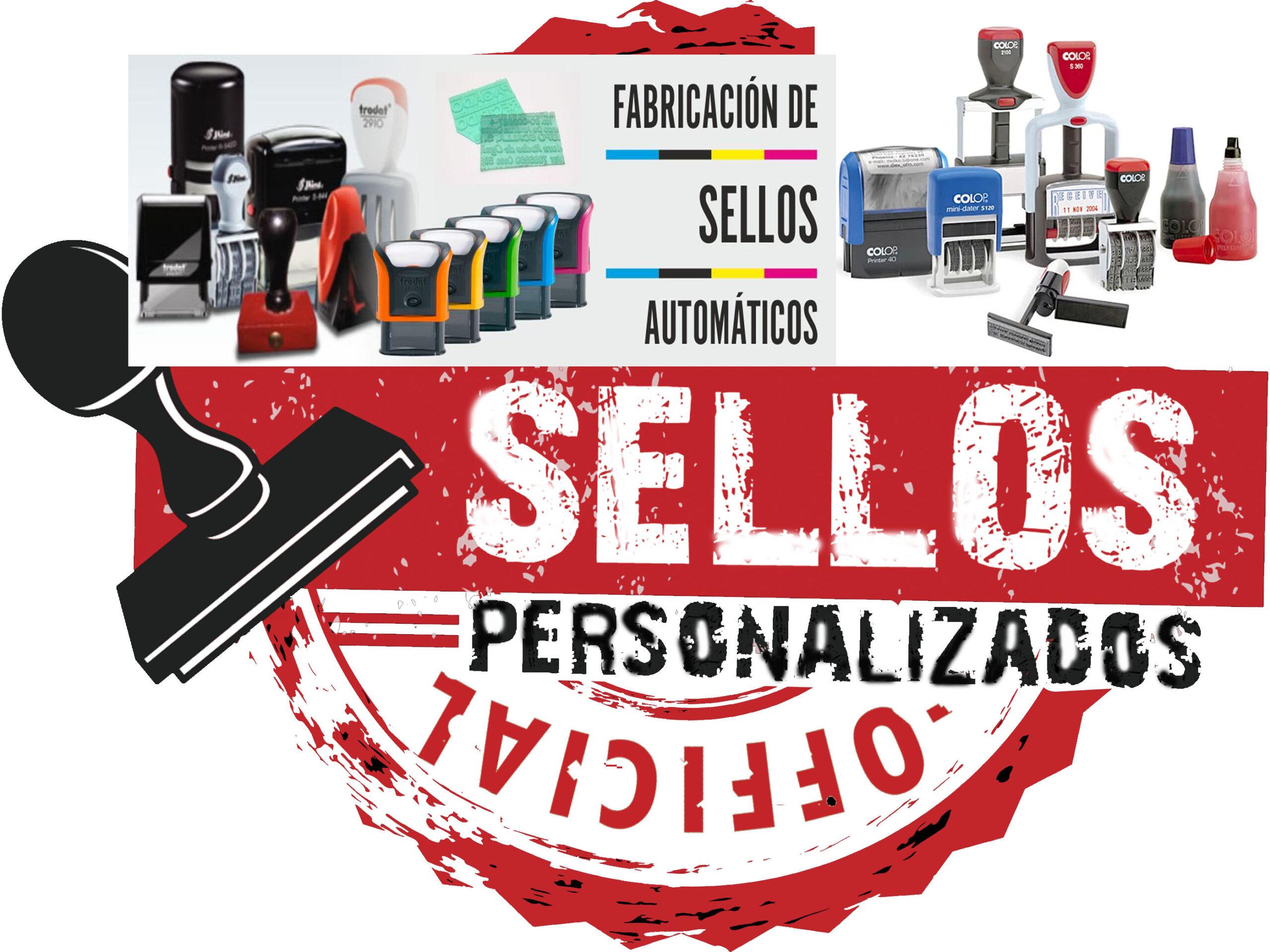 Sellos Personalizados de Madera y Automáticos y Repuestos de Almohadillas y Tinta